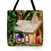 Birdhouse Church Tote Bag
