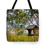 Where The Wild Birds Eat Tote Bag