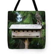 Birdhouse Takeover  Tote Bag
