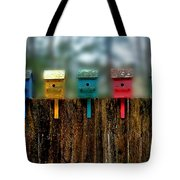 Birdhouse Vignette Tote Bag