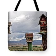 Birdhouses Tote Bag