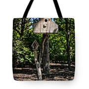 Birdhouses In The Trees Tote Bag