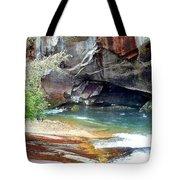 Birdrock Waterfall In Spring 2 Tote Bag
