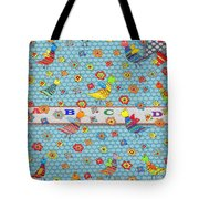 Birds And Flowers For Children Tote Bag