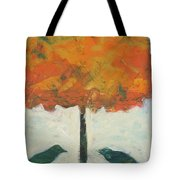 Birds And Maple Tote Bag