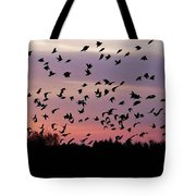 Birds At Sunrise Tote Bag