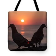 Birds At Sunrise Tote Bag by Nelson Watkins