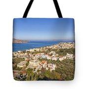 Birds Eye View Of Crete Greece Tote Bag
