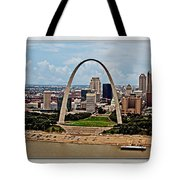 Bird's Eye View Of St.louis  Tote Bag