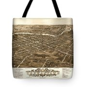 Bird's-eye View Of Youngstown Ohio 1882 Tote Bag