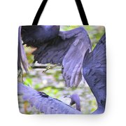 Birds - Fighting - Herons Tote Bag