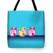 Birds In Blue  Tote Bag