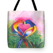 Birds In Love 02 Tote Bag