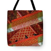 Birds In Rafters Of Royal Temple At Grand Palace Of Thailand  Tote Bag