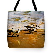 Birds In The Surf Tote Bag
