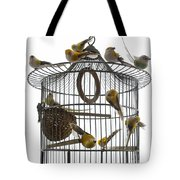 Birds Inside And Outside A Cage Tote Bag