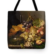 Birds Nest Butterfly And Cherries Tote Bag