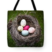 Bird's Nest With Easter Eggs Tote Bag