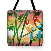 Birds In Paradise Tote Bag