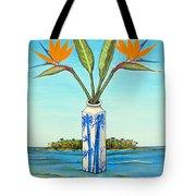 Birds Of Paradise Over Fiji Tote Bag