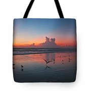 Birds On Beach Tote Bag
