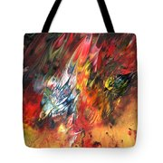 Birds On Fire Tote Bag