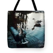 Birds On The Mill Pond Tote Bag