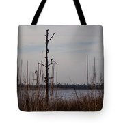 Birds On The River Tote Bag