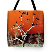 Birds On Tree Tote Bag