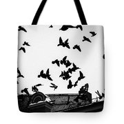 Birds Over City - Featured 3 Tote Bag