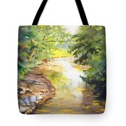 Bird's Trail Creek Tote Bag