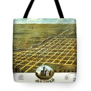 Birdseye View Of Austin Minnesota 1870 Tote Bag