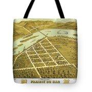 Birdseye View Of Prairie Du Sac Wisconsin 1870 Tote Bag