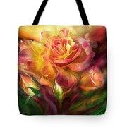 Birth Of A Rose - Sq Tote Bag