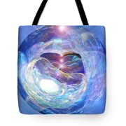 Birth Of Light Tote Bag