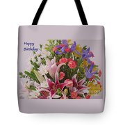 Birthday Bouquet Card Tote Bag