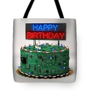 Birthday Cake For Geeks Tote Bag