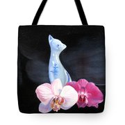 Birthday Party Cat Tote Bag