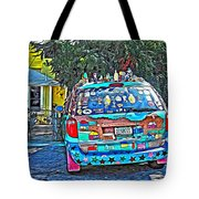 Bisbee Arizona Art Car Tote Bag