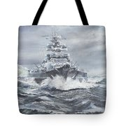 Bismarck Off Greenland Coast  Tote Bag