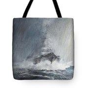 Bismarck Through Curtains Of Rain Tote Bag
