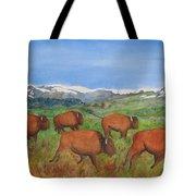 Bison At Yellowstone Tote Bag