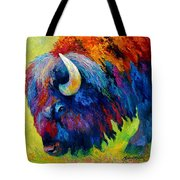 Bison Portrait II Tote Bag