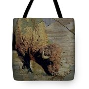 Bison Vintage Style -photo- Art Tote Bag by Ann Powell