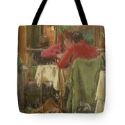 Bistro In Beziers, 2007 Pastel On Paper Tote Bag