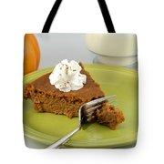 Bite Of Pumpkin Pie Tote Bag