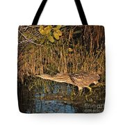 Bittern Stretched Out Tote Bag