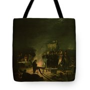 Bivouac Of Napoleon I 1769-1821 On The Battlefield Of The Battle Of Wagram, 5th-6th July 1809, 1810 Tote Bag