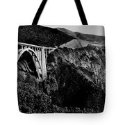 Bixby Black And White Tote Bag by Benjamin Yeager