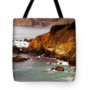 Bixby Bridge Of Big Sur California Tote Bag by Barbara Snyder